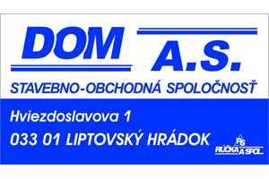 DOM a.s. Liptovský Hrádok